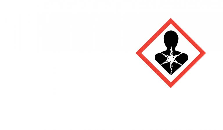 Hazard sign with carcinogenic substances symbol