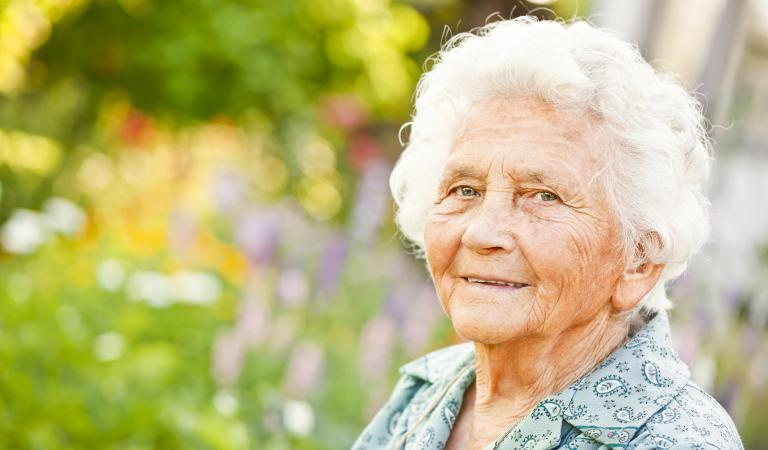 Summer portrait of a lovely grandma. Photo: iStockphoto